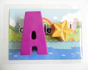 Letter & Star Crayon Party Favour | Novelty Crayons | Party Favours | Alphabet crayons | Personalised Name gifts | Letter initials | Toys