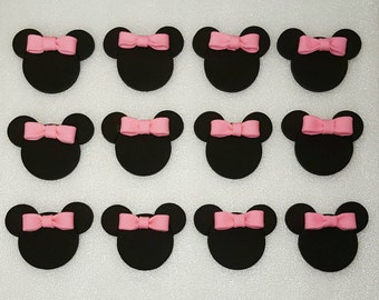 Minnie Mouse fondant cupcake toppers