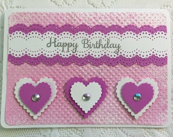 Birthday Card, Elegant, Feminine