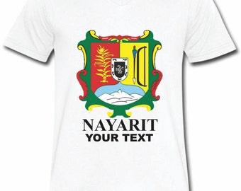 Nayarit Mexico T-shirt V-Neck Tee Vapor Apparel with a FREE custom text(optional)