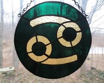 Zodiac Cancer Stained Glass Suncatcher
