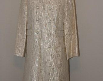 Iridescent Sleeveless Dress with Matching Coat