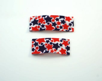 Red White and Blue Star Snap Clip. Fourth of July Hair Clip. Toddler Snap Clip. Toddler Barrettes. Star Hair Clip. Star Toddler Clip.