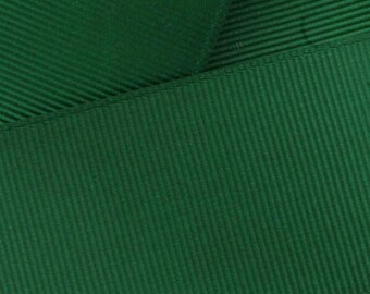 "1.5"" Grosgrain Ribbon Solid 587 Forest Green 5yd"