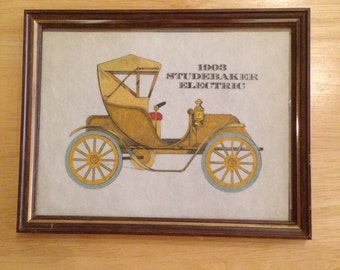 1903 Studebaker Electric Framed Print by Clarence P. Hormung
