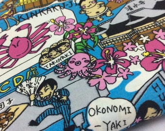 Japanese Food. Japanese Culture. Sushi. Takoyaki. Kimono. Sumo. Half yard. Cotton