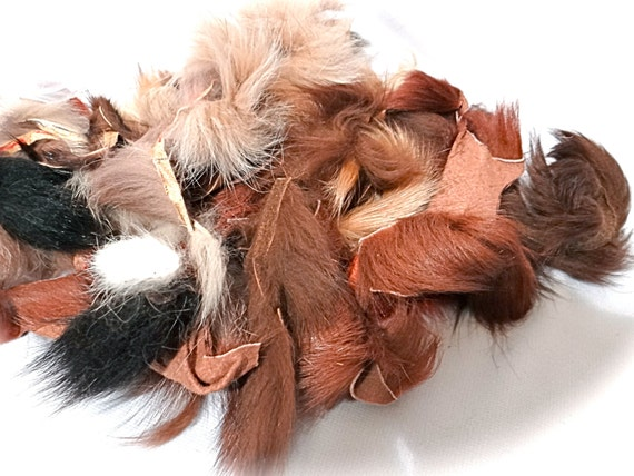 Fox fur scraps leather crafts craft supplies by for Furry craft