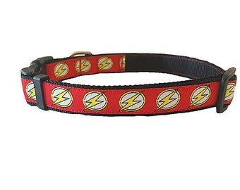 """The Flash / Bolt Quick Release Adjustable Dog Collar - 3/4"""" Width"""