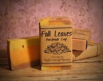 Fall Leaves Handmade Soap