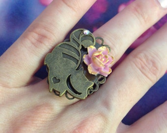 Adjustable ring any size Alice in the Wonderland Cheshire Cat