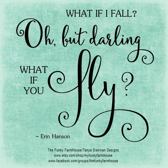 SVG & PNG - What if I fall? Oh, but darling what if you fly