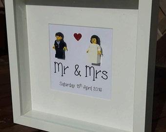 Personalised Lego Wedding Frame