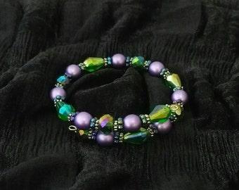 Czech Glass memory wire bracelet