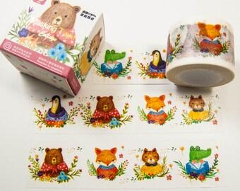 Masking Washi Tape - Sweet Animals / Filofaxing DIY Scrapbooking Decorative Adhesive Tape