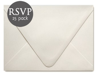 "Ivory Wedding RSVP Envelopes - 25 Pack - Ivory Response Card Envelopes - Ivory Envelope - 4BAR - 3.5"" x 5"""
