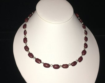 New Orleans Red Beans & Rice Pearl Themed Necklace