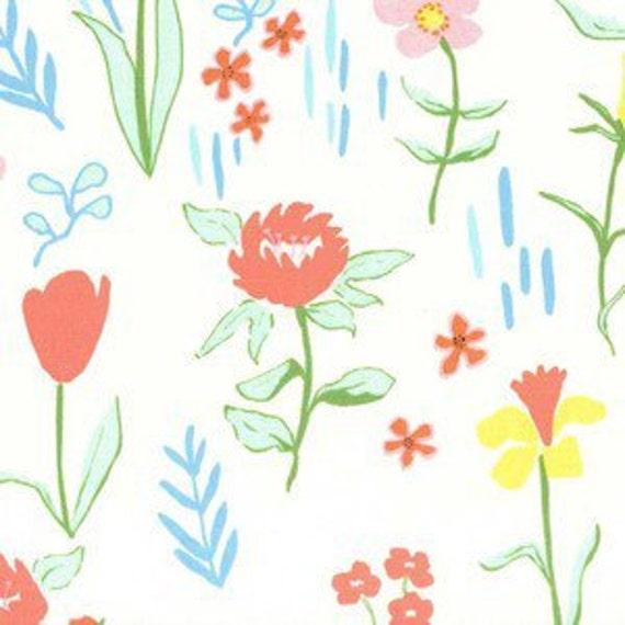 Boppy Cover >> Sommer Canvas in Cream >> Boppy Newborn Lounger Nursing Pillow >> MADE-to-ORDER floral boppy, garden boppy, coral boppy