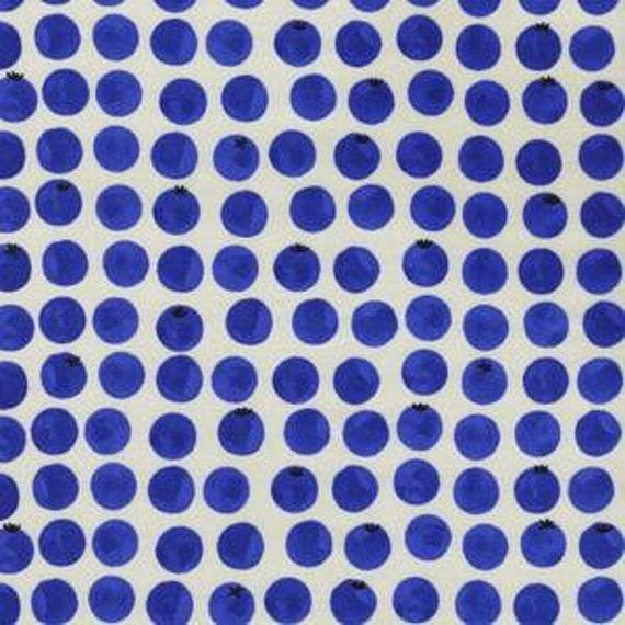 Panel Crib Skirt >> Bluebird Blueberries in Blue >> MADE-to-ORDER navy crib skirt, blueberry crib skirt, cobalt crib skirt, baby bedding