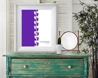Walking The Line, Romans, Minimalist Christian Wall Decor  / 8 x 10 INSTANT DOWNLOAD (G616-1)