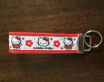 Hello Kitty inspired key fob / keychain