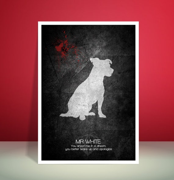 Reservoir Dogs Mr White, Quentin Tarantino, Abstract, Grunge, A3 unique poster print