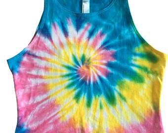 Tie Dye Crop Top, Tie Dye Shirt, Rave Shirt, Rave Crop Top, Rave Tank, Tie Dye, Festival, EDC