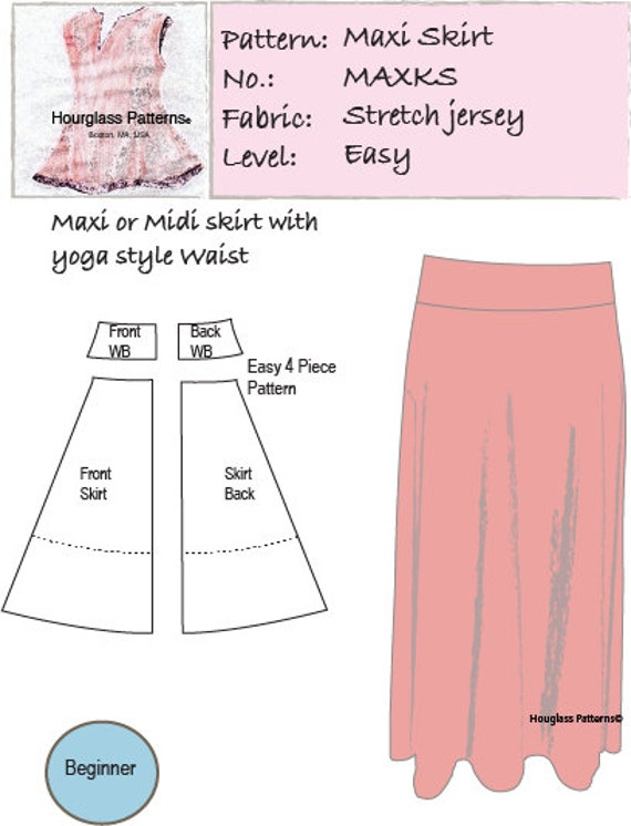 Hourglass Patterns?: Maxi Knit Skirt with optional Midi