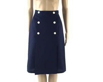 Blue a line skirt   Etsy