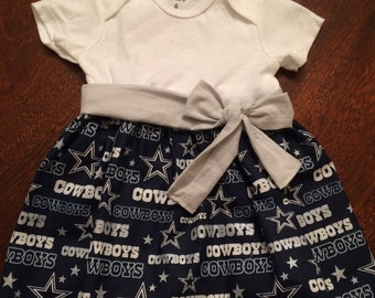 Dallas cowboys onesie dress