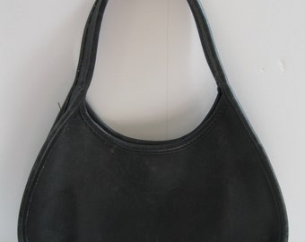 COACH hobo small black leather handbag