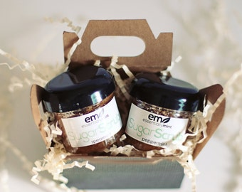 Body Scrub Gift Set, Bath and  Body Gift Set, Sugar Scrub Gift Set, Sugar Scrub pick two, gifts under 20, gifts for Mom, gifts for her