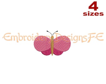 Butterfly Mini Embroidery Design - 4 Sizes - Filled Stitch Machine Embroidery Design File