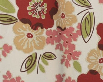 Drapery Fabric, Upholstery Fabric, Retro/Abstract Fabric, DuvetCover Fabric, Floral Leaf Fabric, SlipCover Fabric, Fabric By The Yard