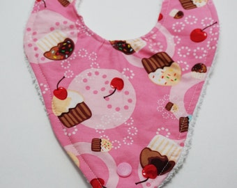 Pink Cupcakes Binky Bib