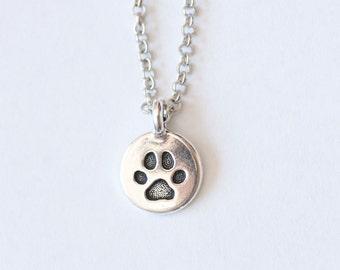 Paw Necklace, Paw Jewelry, Dog Necklace, Dog jewelry