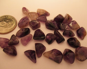Genuine Tumbled Amethyst Drilled Chips 10 Gram Package. Item:BC818418