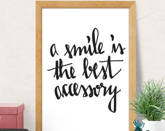 Smile quote, Motivational Print, Motivational Poster, Motivational Quote, Minimalist Wall Decor, Inspirational Quotes, Modern print