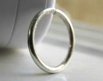 Sterling Silver Nose hoop - Silver Lip Ring / Lip Hoop / Lip Piercing - Silver septum ring - Sterling Silver Cartilage Hoop