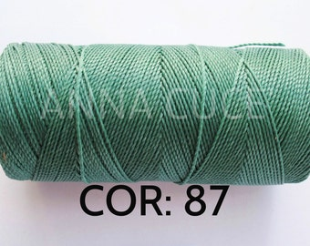 COR:  87 Choose from 10 - 20m waxed thread LINHASITA thick, wire 1mm for macramé, materials.