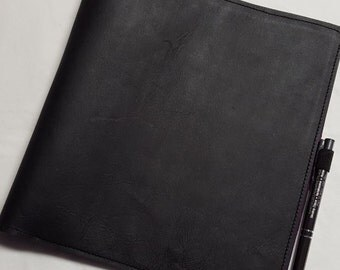 Leather Single-Wrap Discbound or non-Discbound Notebook Cover
