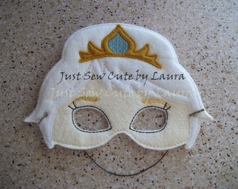 Elsa machine embroidered mask for kids