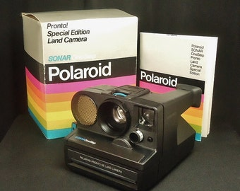 Vintage Polaroid Pronto SX-70 Sonar OneStep Special Edition ( SE ) Land Instant Print Film Camera, Circa: 1978, Superb Condition!