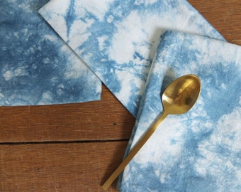 Shibori Napkins, Set of 4: Indigo