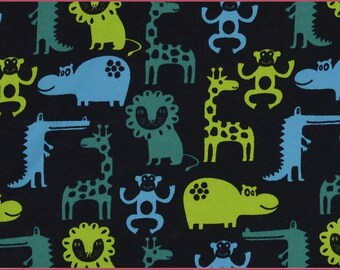 Safari Print Sweatshirt Fabric, Extra Wide - Half Metre