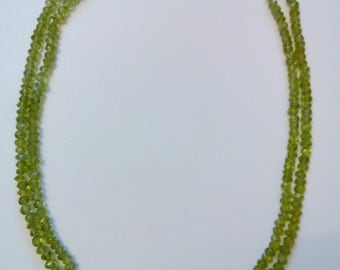 Peridot necklace double row