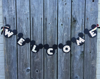 Mickey Mouse Welcome Banner Back to School, Classroom Decoration