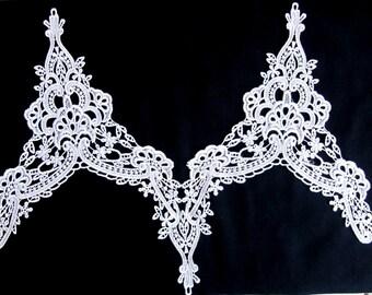 Venice lace/White Venice Lace /costume  Embellishment/Sew On Lace/