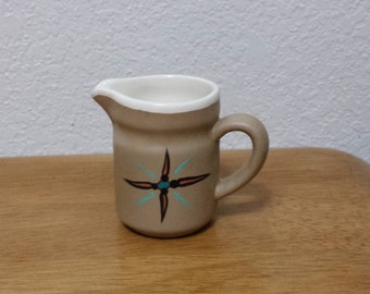 Ceramic Pitcher - Glazed inside and Stained outside (#126A)