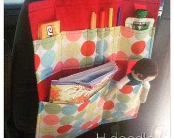 Car Organizer for Children Travel Handmade