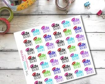 A1 Date Night Stickers for Erin Condren/Plum Paper Planner - Set of 42